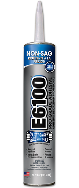E6100 Industrial Strength Adhesives Non-sag